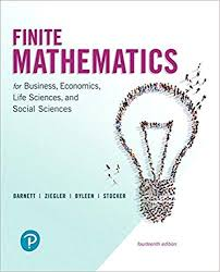 Finite Mathematics For Business Economics Life Sciences And Social 14th Edition