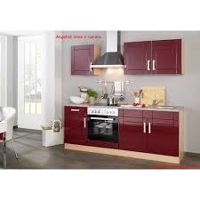küchenzeile varel küchen leerblock breite 210 cm hochglanz bordeaux rot