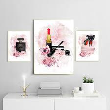 wand kunstdrucke leinwand malerei nordic fashion floral lippenstift parfüm make up poster modulare bilder für wohnzimmer wohnkul