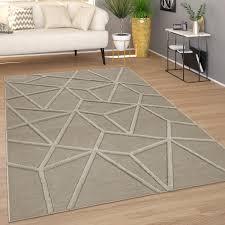 teppich wohnzimmer modernes skandi muster rauten