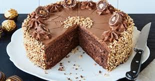 rocher torte rezept mit nutella