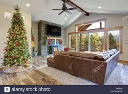 weihnachten zimmer interior design wohnzimmer mit
