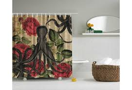 and Roses Shower Curtain