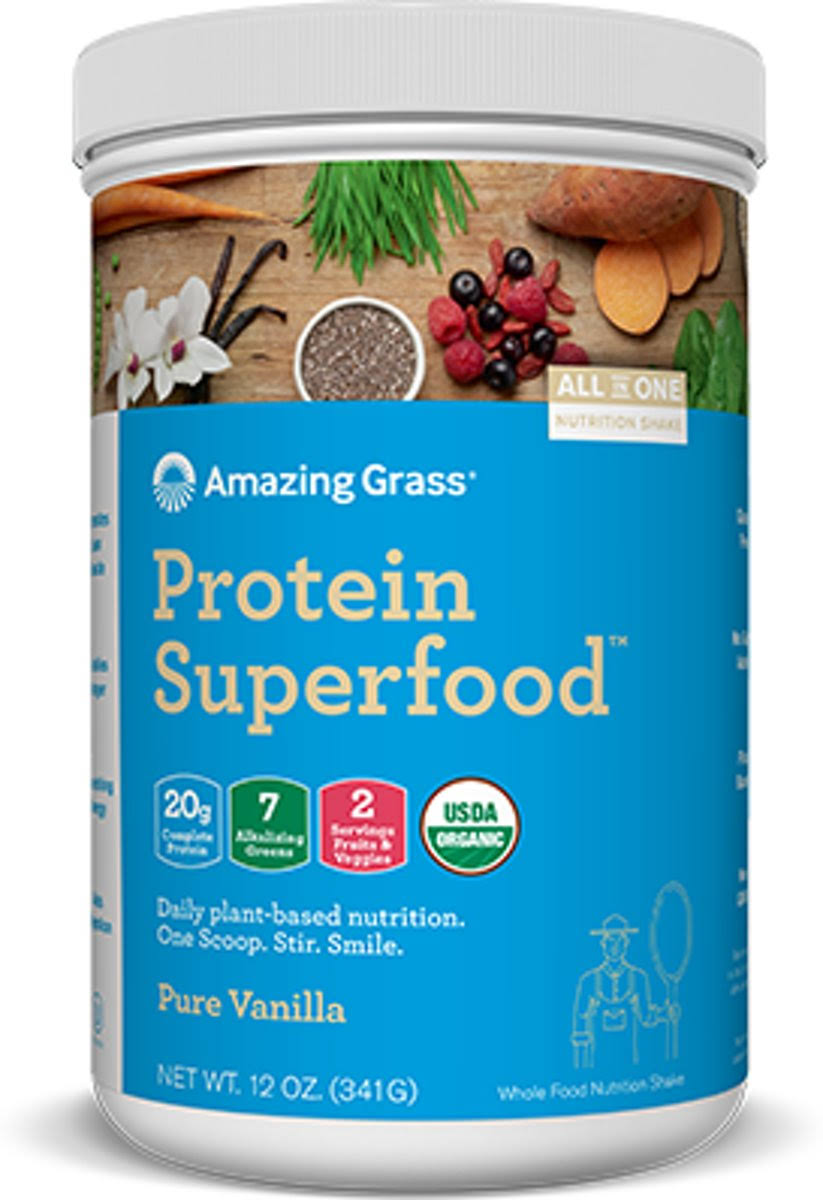 Amazing Grass Protein Superfood, Pure Vanilla - 341 grams