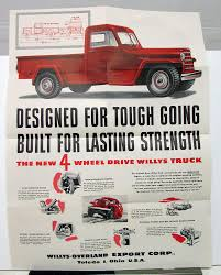 1950 Willys Jeep 4WD Truck Goes Through Sales Mailer & Specifications