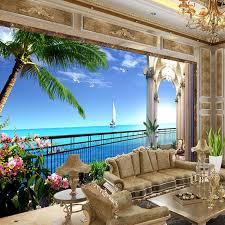 custom foto tapete 3d wandbild tapete erweitern die raum balkon meer ansicht wohnzimmer tv hintergrund wand dekor papier