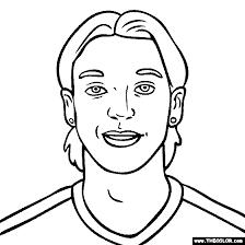 Mesut Ozil Coloring Page
