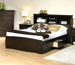 King Size Platform Bed With Headboard by King Bookcase Headboard Platform Storage Bed W Bookcase Headboard