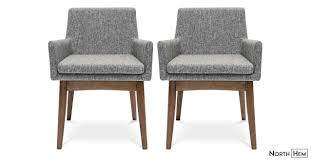 2 X Evy Dining Arm Chairs Pebble Grey