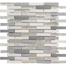 MSI Ocean Crest Brick 12 in x 12 in x 8 mm Glass Metal Stone