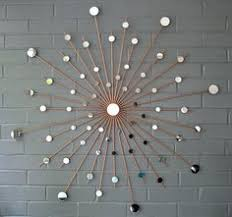 Hand Welded By Lisa Starburst Metal Steel Wall Art Mirror Modern Sunburst Retro