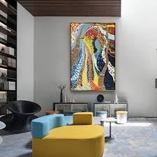 nordic abstrakte veranda dekorative malerei korridor