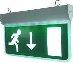 emergency lights and exit signs iron