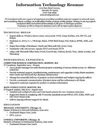 Information Technology Resume Sample Download