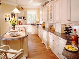 Country French Kitchen Cabinets Galley