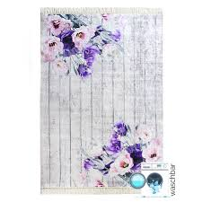 waschbarer teppich lila designer shabby my2210 120x170 cm