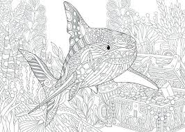 Adult Coloring Pages Printable Of The Ocean For Adults