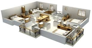 Spacious House Plans by 25 More 2 Bedroom 3d Floor Plans House Plan 3 Spacious Luxihome