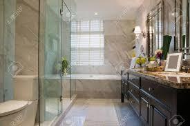 luxus badezimmer mit schönen dekoration