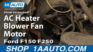 100 1977 Ford Truck Parts How To Replace AC Heater Blower Fan Motor 8096 F150250350