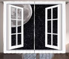 gardine schlafzimmer kräuselband vorhang mit schlaufen und haken abakuhaus weltraum fenster zum weltraum kaufen otto