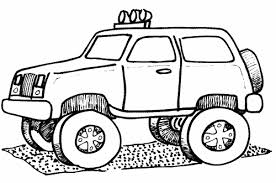 Another Monster Truck To Color Coloring Pages