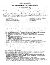 Resume For Call Center Manager New Picture