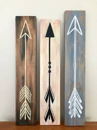 Hand Painted Arrows On Old Scrap Wood