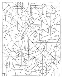 Free Color By Number Coloring Pages Challenging For Teenagers Difficult