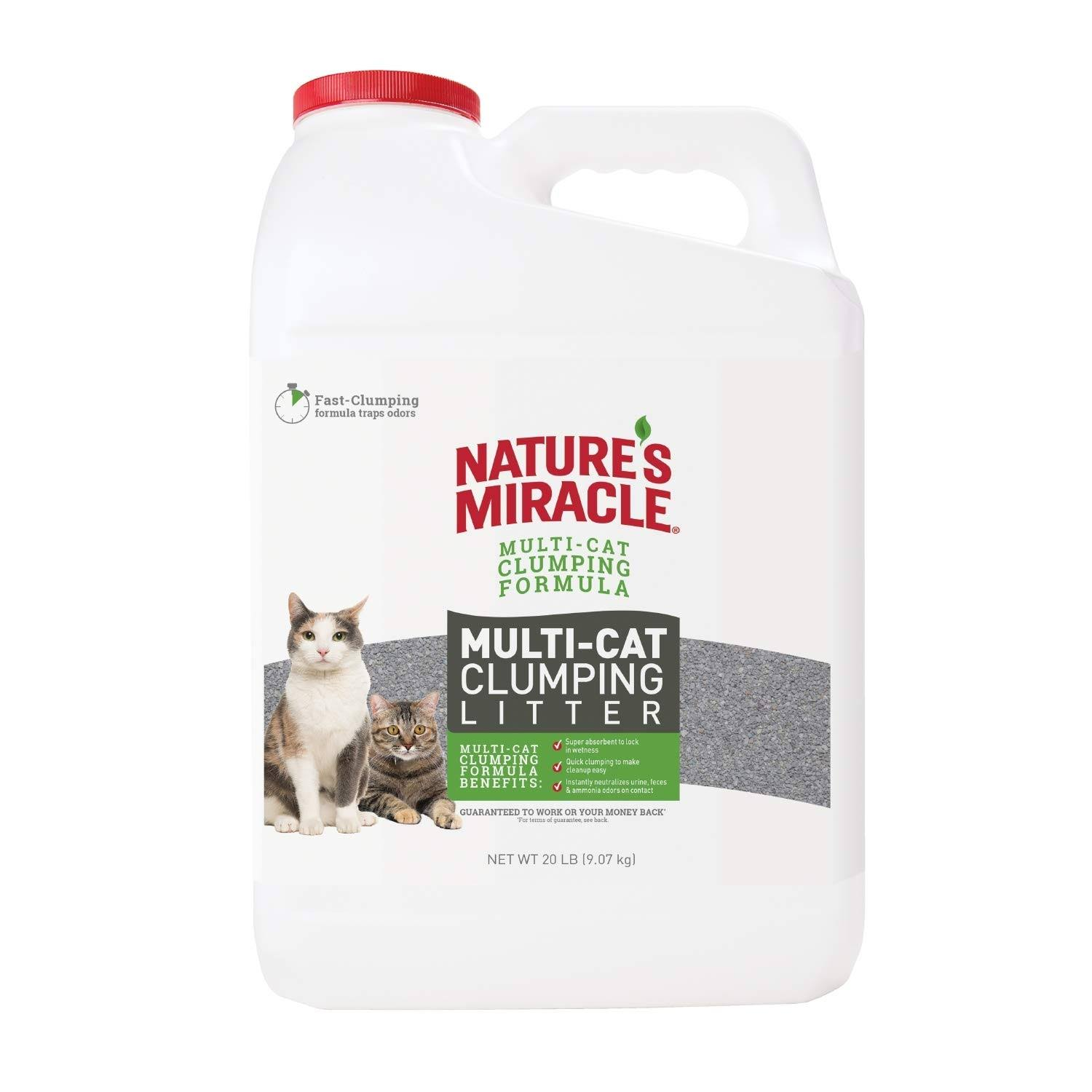 Nature's Miracle Multi-Cat Clumping Clay Cat Litter, 20-lb
