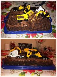 100 Truck Birthday Cakes Construction Cake 38507 Semi And Cat Machines Crushed