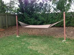 I Don't Have Trees For A Hammock And Didn't Want A Metal Frame So ... Fniture Indoor Hammock Chair Stand Wooden Diy Tripod Hammocks 40 That You Can Make This Weekend 20 Hangout Ideas For Your Backyard Garden Lovers Club I Dont Have Trees A Hammock And Didnt Want Metal Frame So How To Build Pergola In Under 200 A Durable From Posts 25 Unique Stand Ideas On Pinterest Diy Patio Admirable Homemade To At Relax Your Yard Even Without With Zig Zag Reviews Home Outdoor Decoration