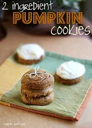 Pumpkin And Cake Mix Weight Watchers by 2 Ingredient Pumpkin Cookies