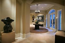Contemporary Foyer Ideas Entry With Pedestal Table White Wood Tile Flooring