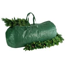 National Tree Company Green Heavy Duty Storage Bag With Handles And Zipper