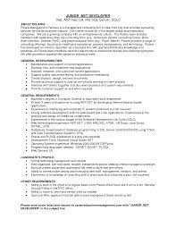 Awesome Collection Of Cv Asp Net Developer Sample Resume Perfect Microsoft 2 Nice Dot