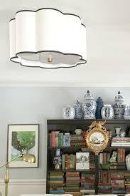 flush mount lighting in the living room emily a clark
