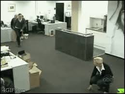 Bathroom Stall Prank Gif by 37 Awesome Office Pranks That Will Make You Laugh Out Loud