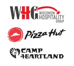 Wisconsin Hospitality Group Pizza Hut And Camp Heartland Logos