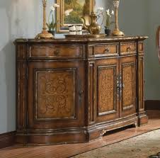 Beladora Credenza Buffet Furniture With Brown Finish And Vintage Sculpture