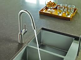 Moen 90 Degree Kitchen Faucet Stainless by One Touch Faucets Kitchen Moen