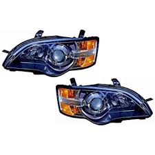 subaru legacy replacement headlight assembly black
