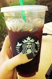 Heathy Starbucks Venti Iced Americano With Sugar Free Carmel Syrup And Extra Ice