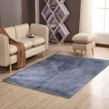 details zu badezimmer teppich hochflor badematte 80x150cm modern kuschelig weich uni grau