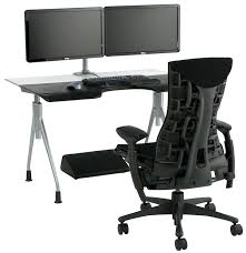 desk walker edison black glass corner computer desk black glass