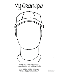 I Love You Grandma Coloring Pages Fathers Day Page Grandpa Baseball Cap Who My Full