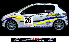 deco voiture de rallye decoracing prochaine réalisation la 206 rallye de xavier