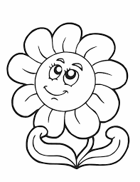 Flowering Coloring Pages Flower Pictures Printable Free