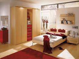 bedroom setup for small rooms plain light brown wallpaint beige
