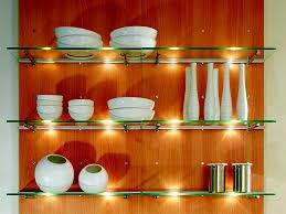 inside kitchen cabinet lighting for tableware set display also